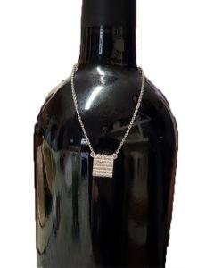 שרשרת לעיטור בקבוק מכסף טהור - מצה