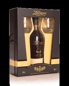 זקאפה 23 שנה +2 כוסות אריזת מתנה