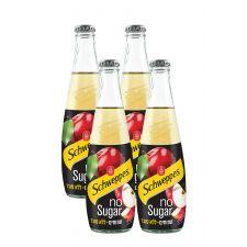 """שוופס מוגז פירות NO SUGAR תפוחים 330 מ""""ל זכוכית"""